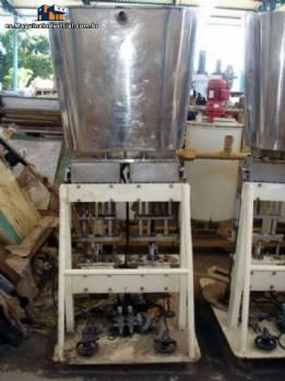Termoformadora automática de potes con llenado y vacío Termoforming Italiana
