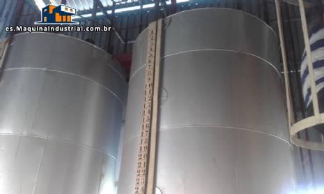 2 camisa tanques para recepción de grasa para 10 toneladas