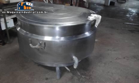 Maceta 500 litros de digestor de acero inoxidable